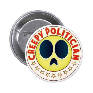 Politician Creepy 6 Cm Round Badge