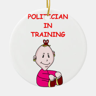 POLITICIAN Double-Sided CERAMIC ROUND CHRISTMAS ORNAMENT