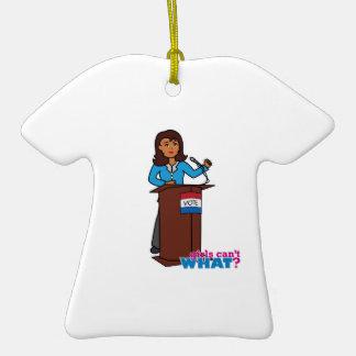 Politician Girl Ceramic T-Shirt Decoration