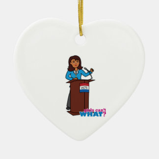 Politician Girl Ceramic Heart Decoration