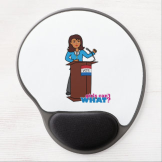 Politician Girl Gel Mouse Pad
