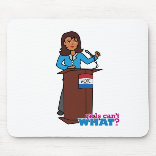 Politician Girl Mouse Pads