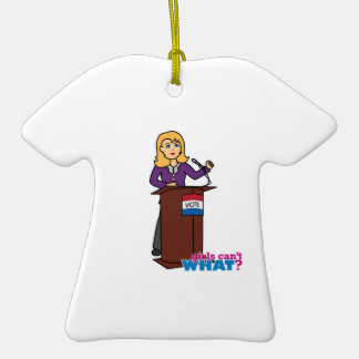 Politician - Light/Blonde Double-Sided T-Shirt Ceramic Christmas Ornament