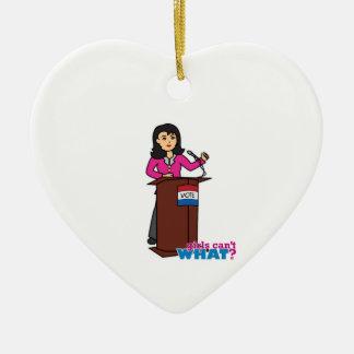 Politician - Medium Ceramic Heart Decoration