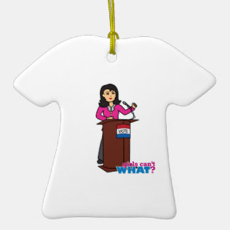 Politician - Medium Ceramic T-Shirt Decoration