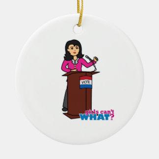 Politician - Medium Christmas Tree Ornaments