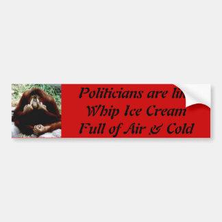 Politician  R like Ice Cream Bumper Sticker
