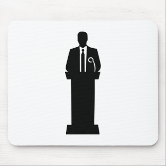 Politician speaker mousepad