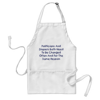 Politicians And Diapers Adult Apron