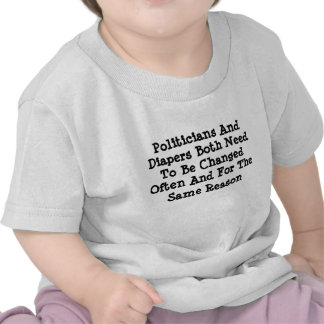 Politicians And Diapers T Shirt