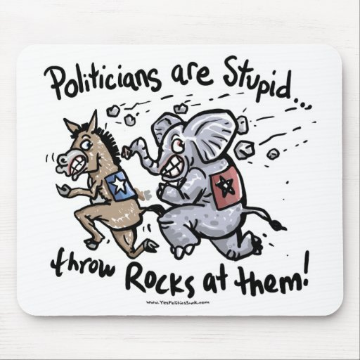 Politicians are Stupid Mouse Mat