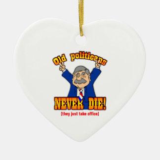 Politicians Ceramic Heart Decoration