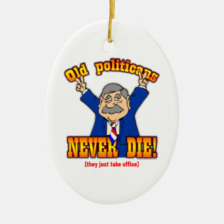 Politicians Ceramic Oval Decoration