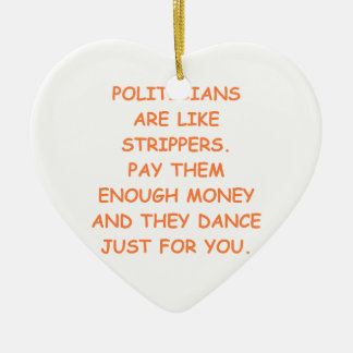 politicians Double-Sided heart ceramic christmas ornament