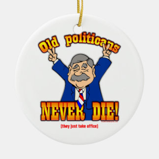 Politicians Double-Sided Ceramic Round Christmas Ornament