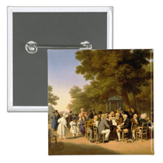 Politicians in the Tuileries Gardens, 1832 15 Cm Square Badge