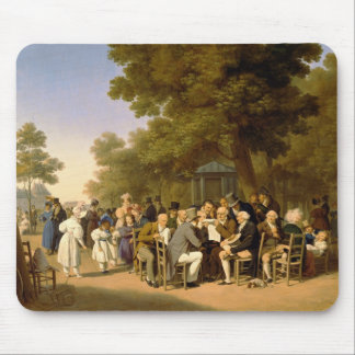 Politicians in the Tuileries Gardens 1832 Mousepad