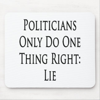 Politicians Only Do One Thing Right Lie Mouse Pad