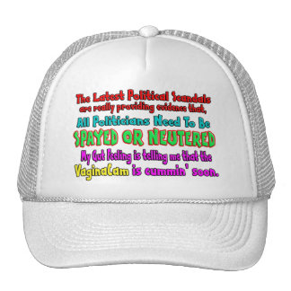 Politicians Spayed and Neutered Mesh Hat