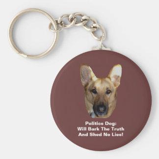 Politics German Shepherd Dog Round Button Keychain