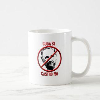 Politics - Intl - Cuba Si, Castro No Basic White Mug