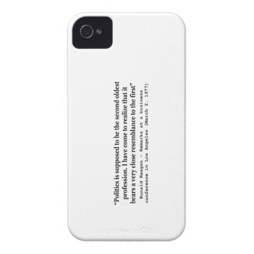 Politics is the Worlds Second Oldest Profession iPhone 4 Case-Mate Cases