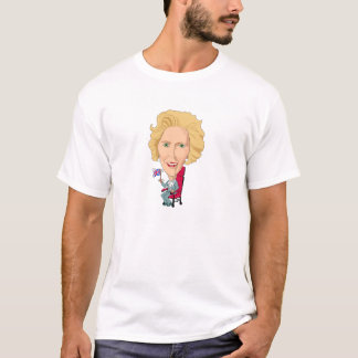 Politics Margaret Thatcher Caricature Brit T-Shirt