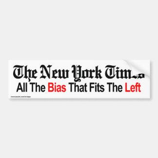 "Politics ""NY TIMES"" bumper sticker Car Bumper Sticker"