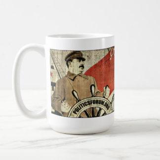 "PoliticsForum.org: ""Comrade Stalin will guide us"" Basic White Mug"