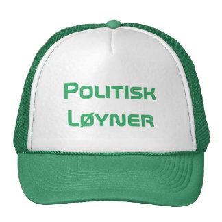 Politisk løyner, political liar in Norwegian Cap