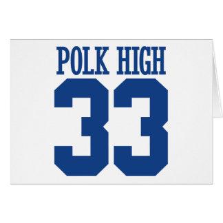 polk high greeting card