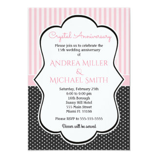 Polka Crystal All-Years Wedding Anniversary Invite