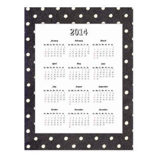 Polka Dot 2014 Calendar Postcard