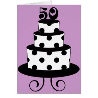 Polka Dot 50th Birthday Anniversary Greeting Card