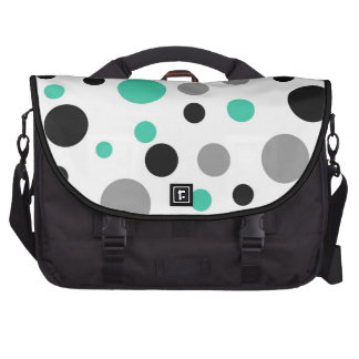 Polka Dot Abstract Art in Teal Laptop Computer Bag