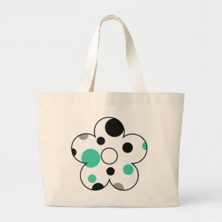Polka Dot Abstract Art in Teal Canvas Bags