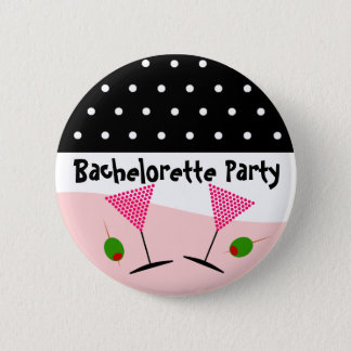 Polka Dot Bachelorette Party 6 Cm Round Badge