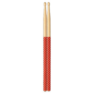 Polka dot background drumsticks