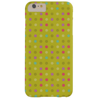 Polka-dot background pattern barely there iPhone 6 plus case