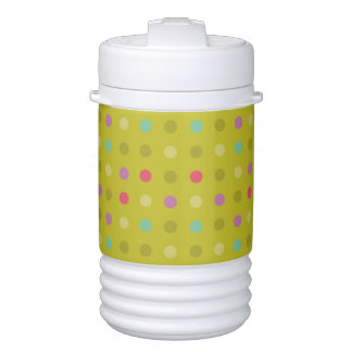 Polka-dot background pattern cooler