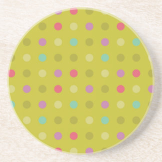 Polka-dot background pattern drink coaster