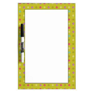 Polka-dot background pattern dry erase whiteboard
