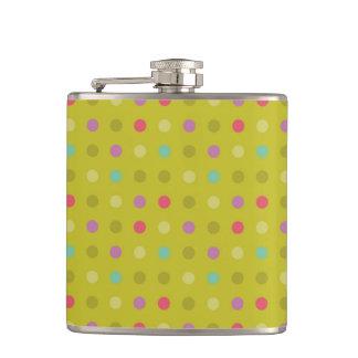 Polka-dot background pattern hip flask