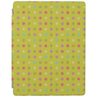 Polka-dot background pattern iPad cover