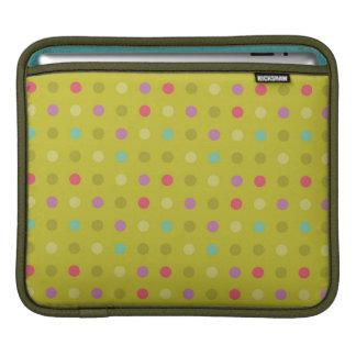 Polka-dot background pattern iPad sleeve