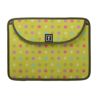 Polka-dot background pattern MacBook pro sleeves