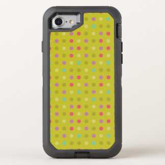 Polka-dot background pattern OtterBox defender iPhone 7 case