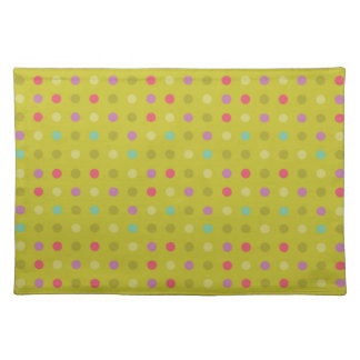 Polka-dot background pattern placemat