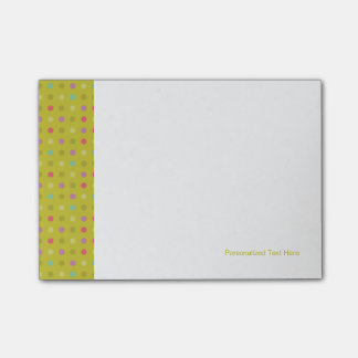 Polka-dot background pattern post-it® notes