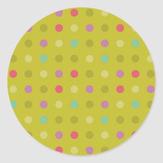 Polka-dot background pattern round sticker